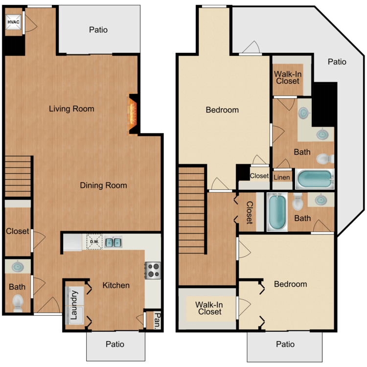 2 Bedrooms 3 Bathrooms Apartment for rent at Sierra Royale in San Antonio, TX