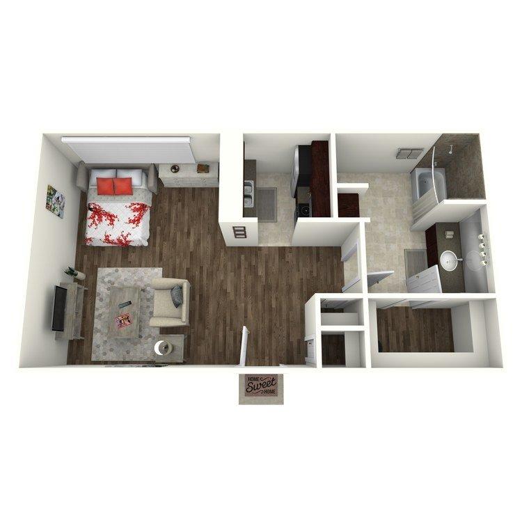 Studio 1 Bathroom Apartment for rent at Terrace Villas in Houston, TX
