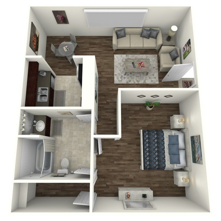 1 Bedroom 1 Bathroom Apartment for rent at Terrace Villas in Houston, TX