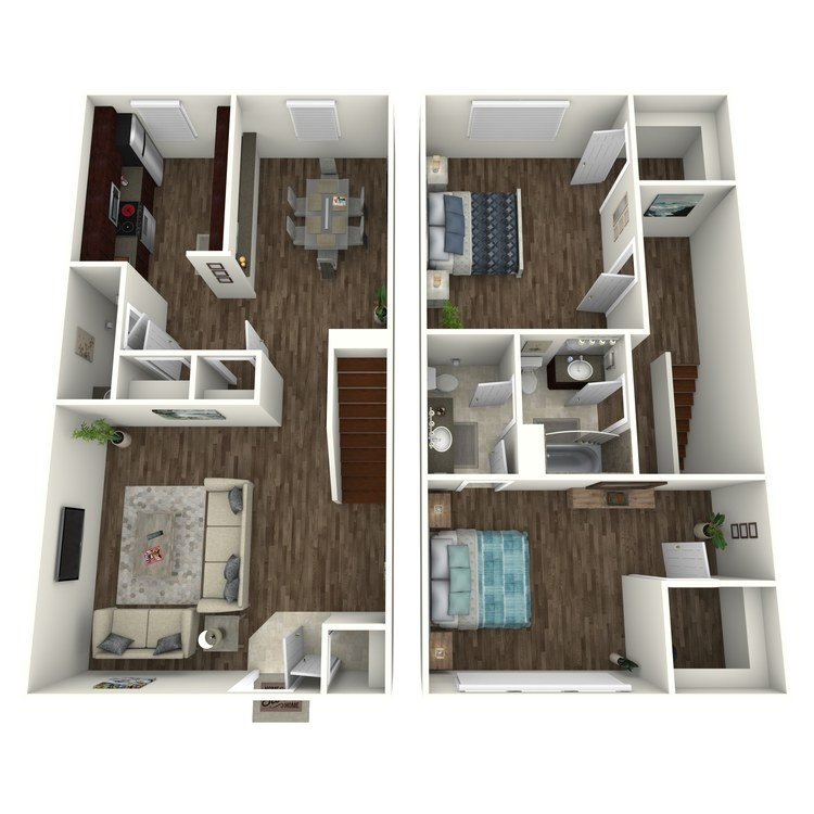 2 Bedrooms 1 Bathroom Apartment for rent at Terrace Villas in Houston, TX