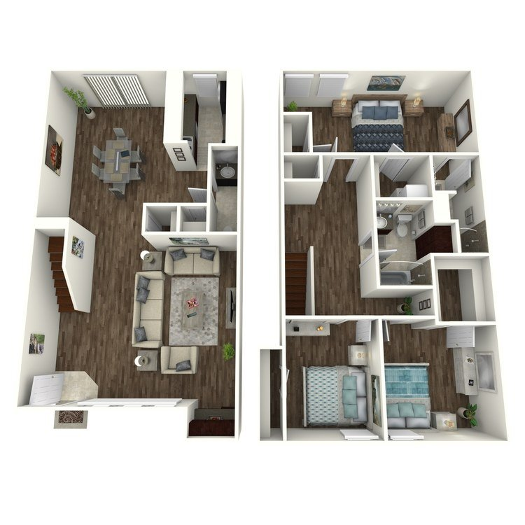 3 Bedrooms 2 Bathrooms Apartment for rent at Terrace Villas in Houston, TX
