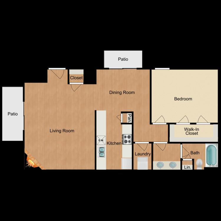 1 Bedroom 1 Bathroom Apartment for rent at Sierra Royale in San Antonio, TX