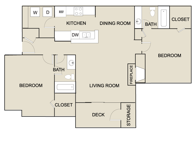 2 Bedrooms 2 Bathrooms Apartment for rent at The Kelston in Charlotte, NC