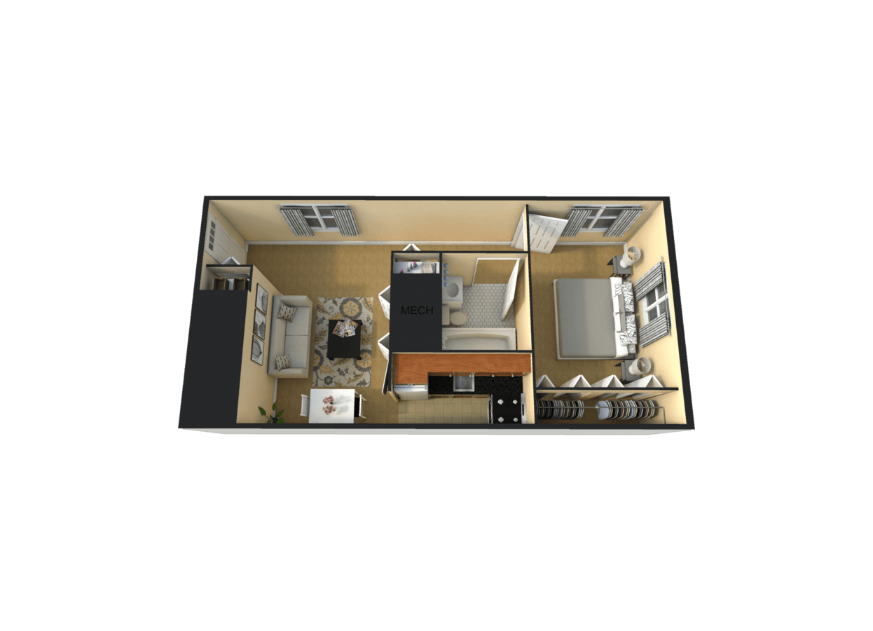 1 Bedroom 1 Bathroom Apartment for rent at Emerald Gardens in Pittsburgh, PA