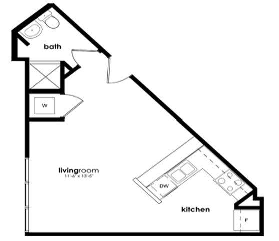 Studio 1 Bathroom Apartment for rent at District Square Apartments in Richmond, VA