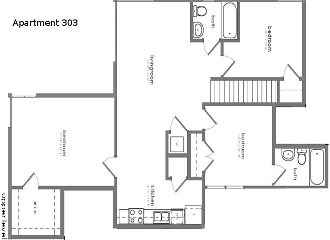 3 Bedrooms 2 Bathrooms Apartment for rent at District Square Apartments in Richmond, VA