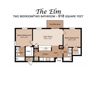 2 Bedrooms 2 Bathrooms Apartment for rent at Ashton Oaks in Hudson, FL