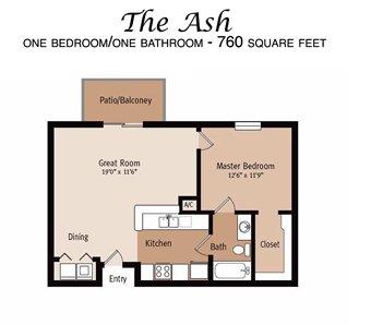 1 Bedroom 1 Bathroom Apartment for rent at Ashton Oaks in Hudson, FL