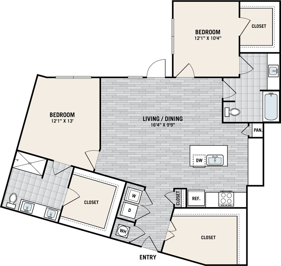 2 Bedrooms 2 Bathrooms Apartment for rent at West Love in Dallas, TX